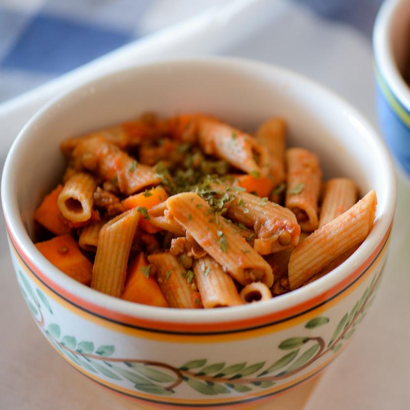 Vegetarian Penne Bolognese - recipe by Lumaflow